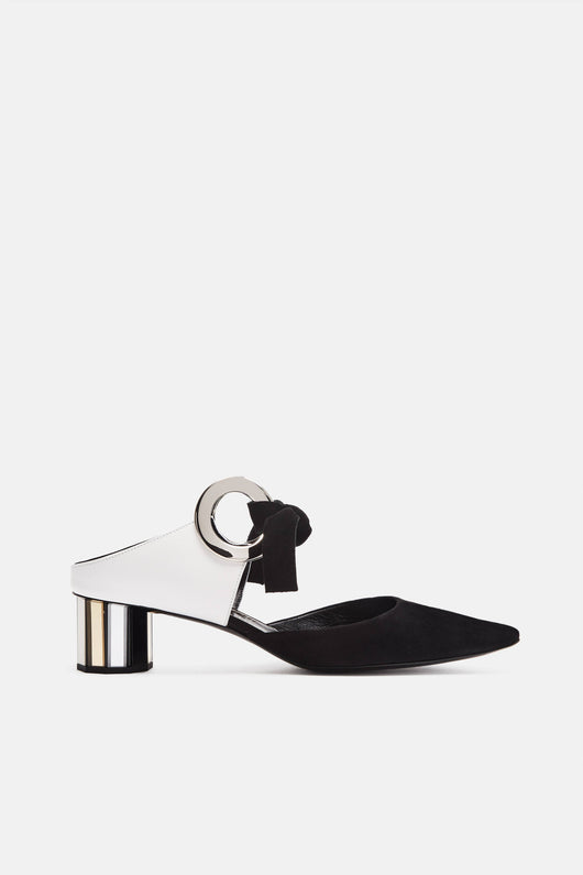 Grommet Heel - Black/White