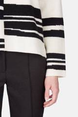 Broken Stripe Crewneck - Off-White/Black