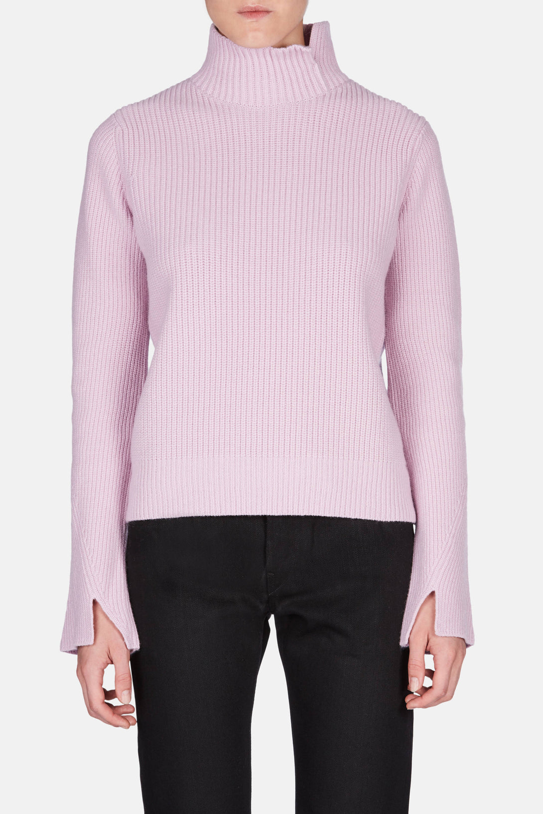 Flared Sleeve Turtleneck - Pink Violet