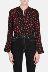 Button Up - Black/Red Print