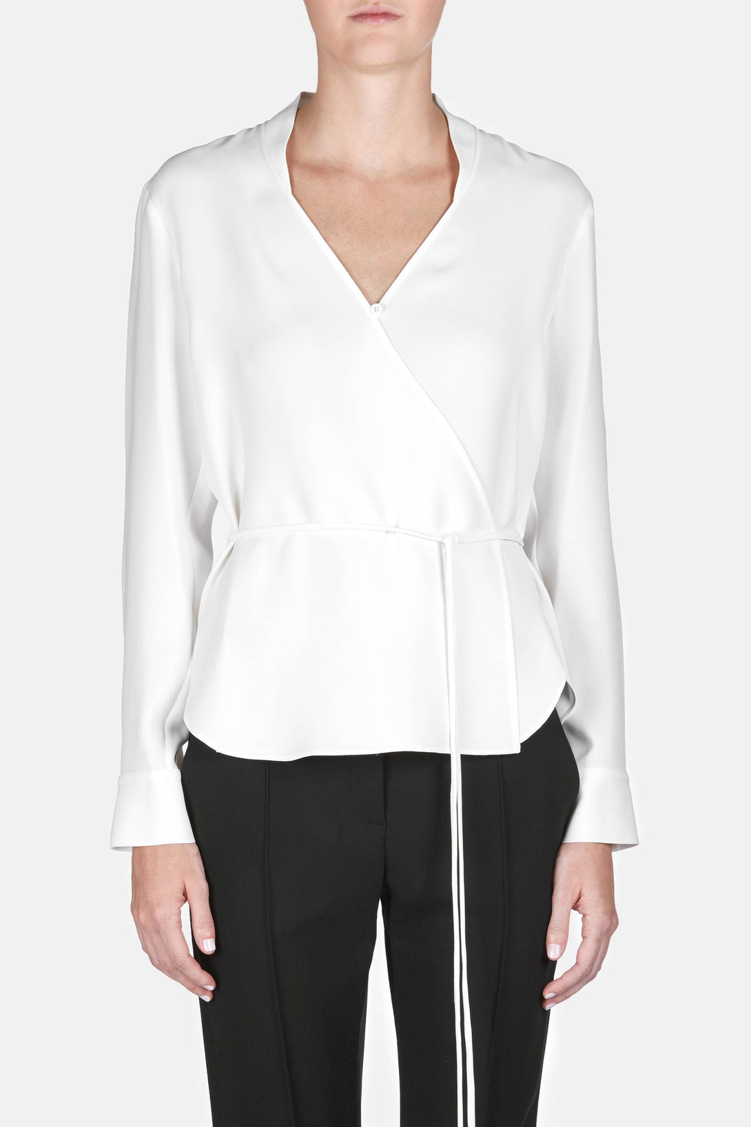 Shirt 10 Wrap Blouse - Ivory