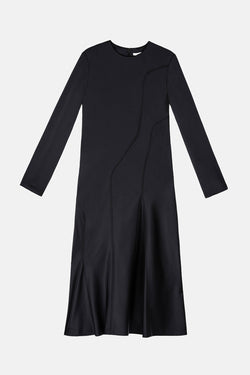Dress 19 Landscape Panel Dress - Black