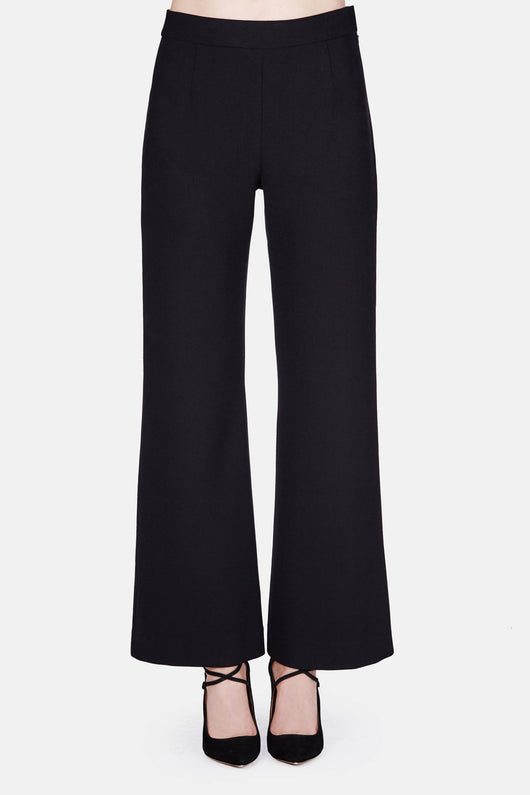 Trouser 11 Wide Leg Kick Trouser - Black