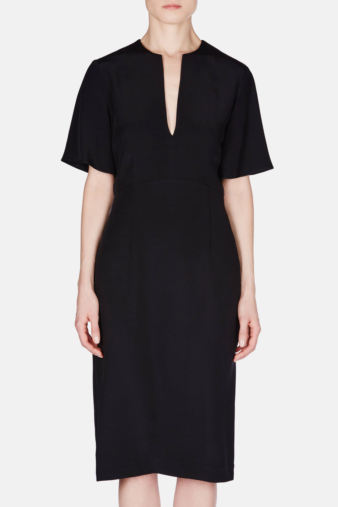 Dress 22 Deep V Dress - Black