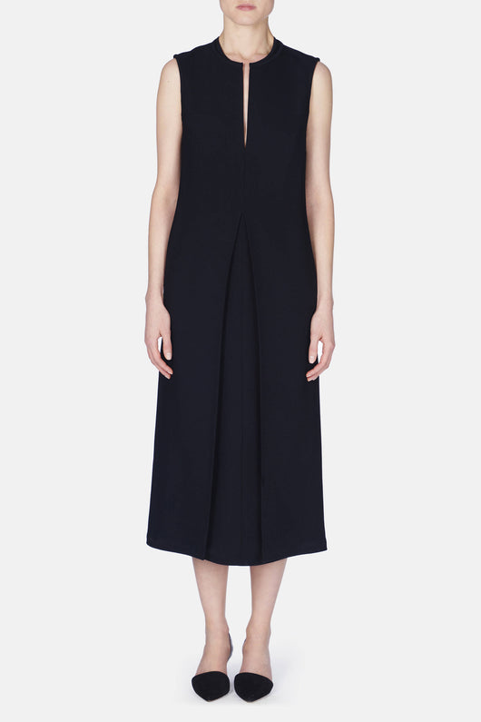 Dress 23  Neck Detail Shift Dress - Black
