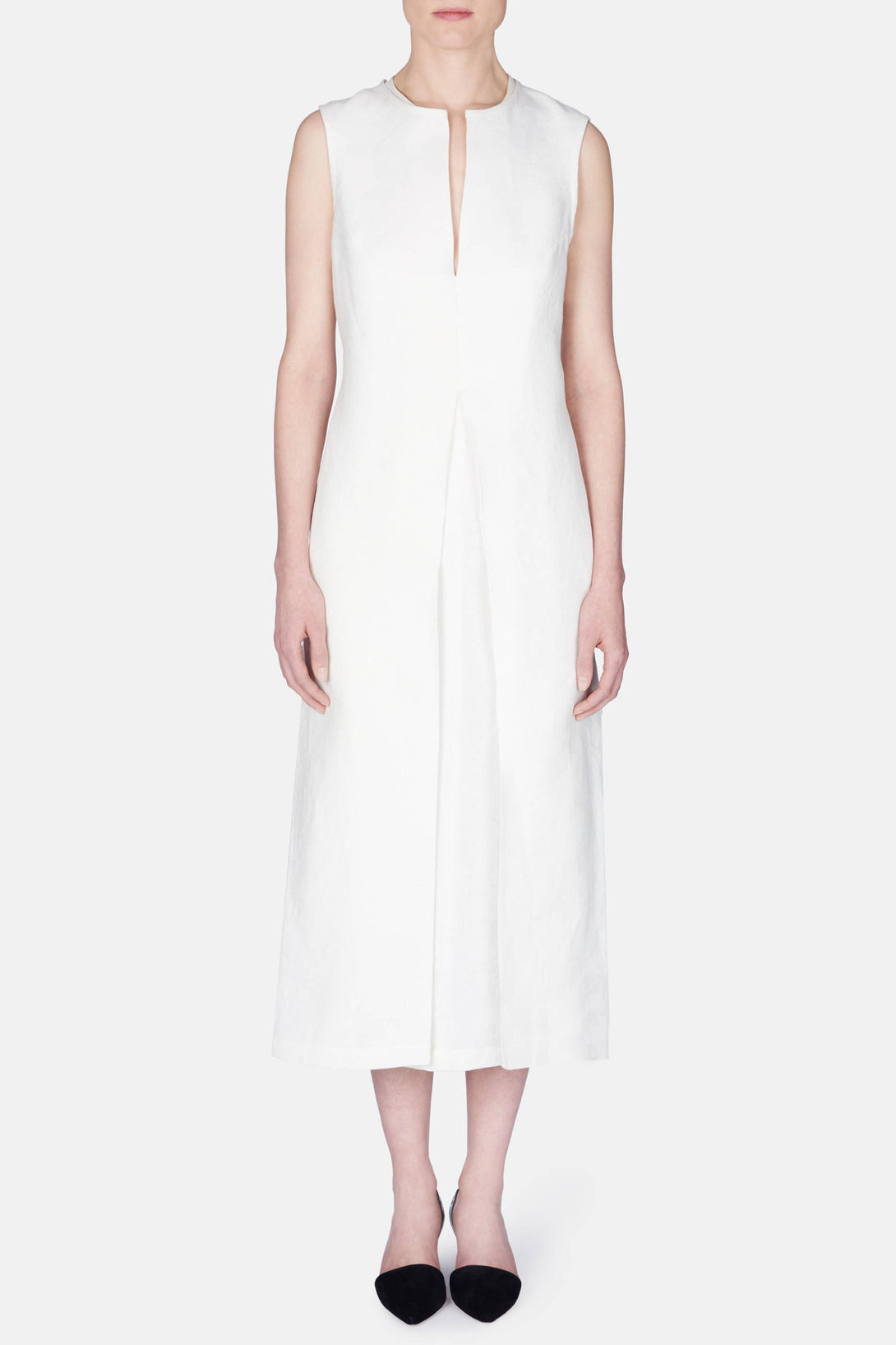 Dress 23 Neck Detail Shift Dress - Ivory