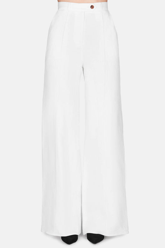 Trouser 16 High Waisted Trouser - Ivory