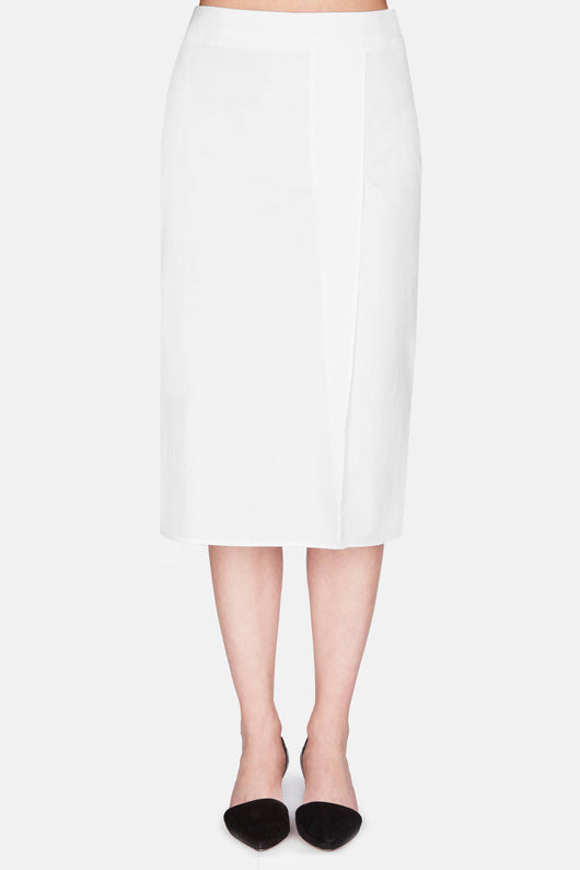 Skirt 15 Slim Skirt With Slit - White