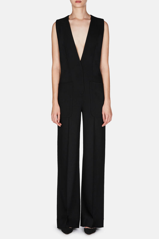 Jumpsuit 02 Tailored Jumpsuit - Jet Black