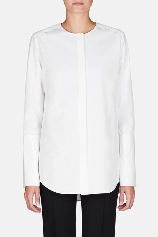 Shirt 36 Collarless Classic Shirt - Tissue White