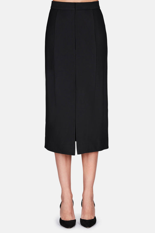 Skirt 25 Draped Back Evening Skirt -  Black