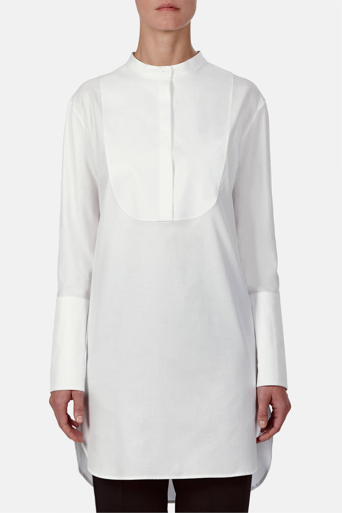 Tunic 01, Shirting - White