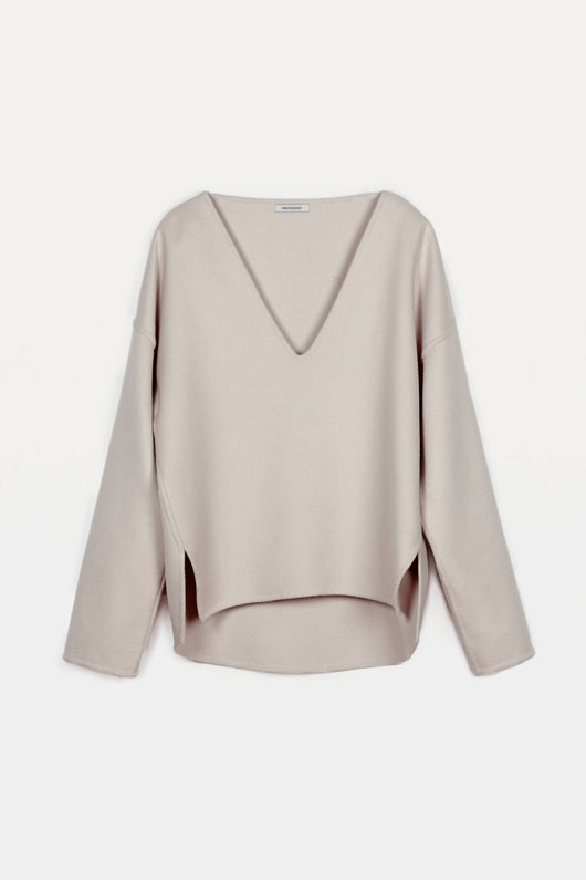 Pullover 01, Sculptural Wool - Dusty Blush