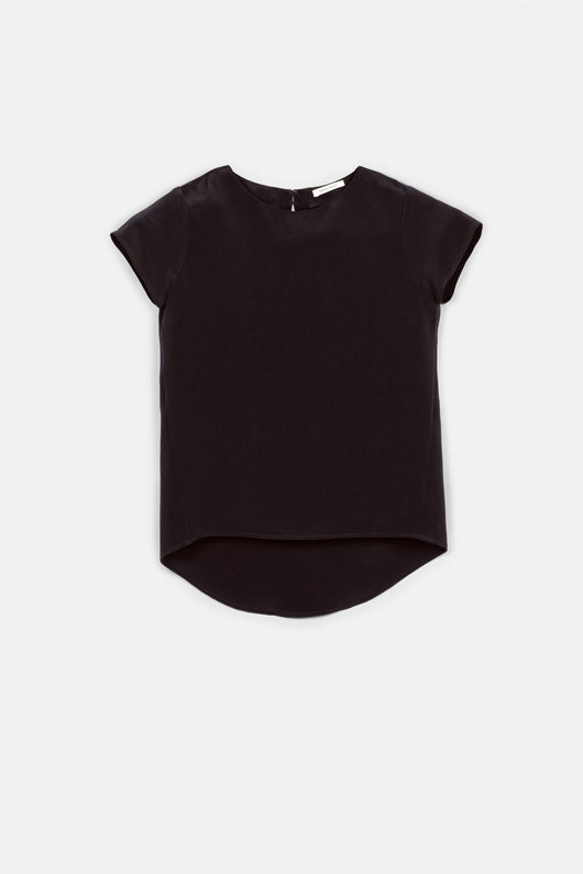 T-Shirt 01, 4-Ply Silk Crepe - Black