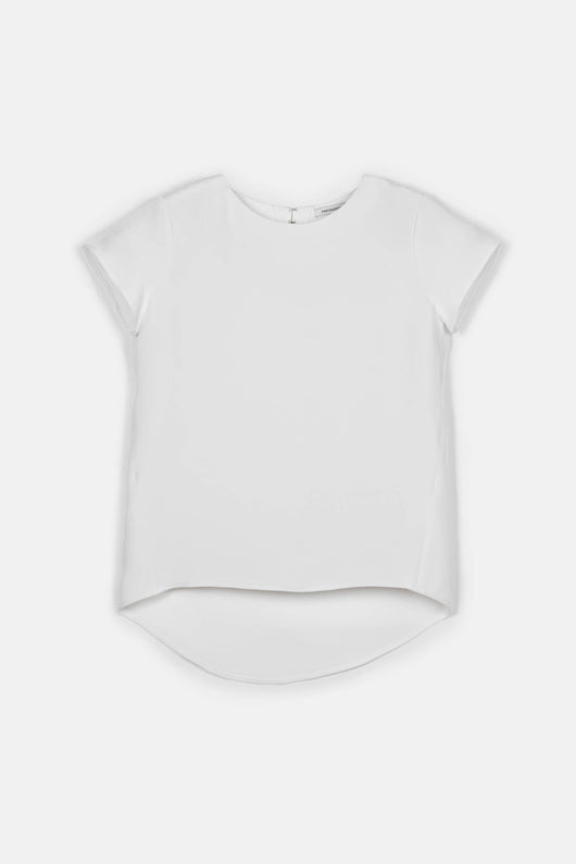 T-Shirt 01, 4-Ply Silk Crepe - White