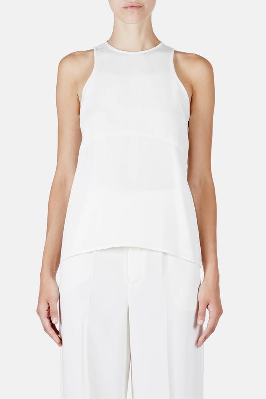 Tank 01, 4-Ply Silk Crepe - White