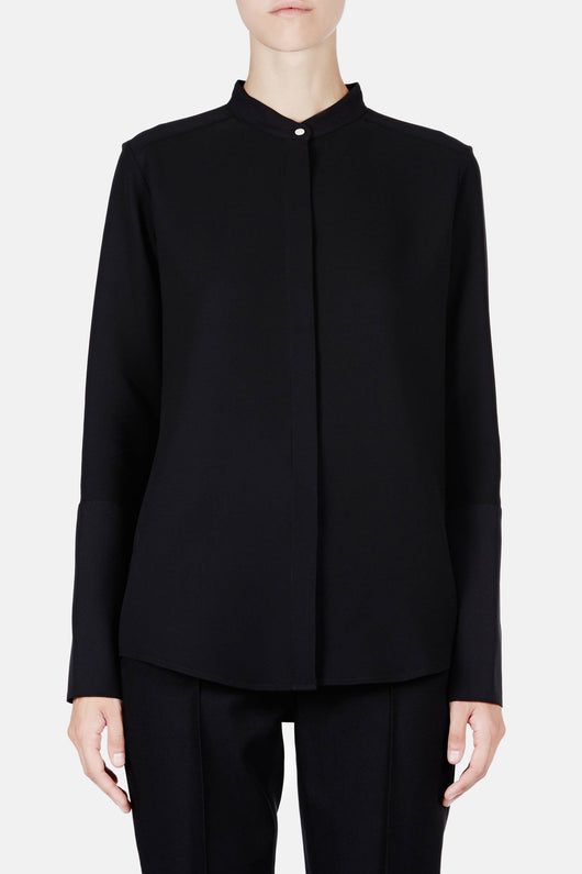 Shirt 05 Collarstand Blouse - Black