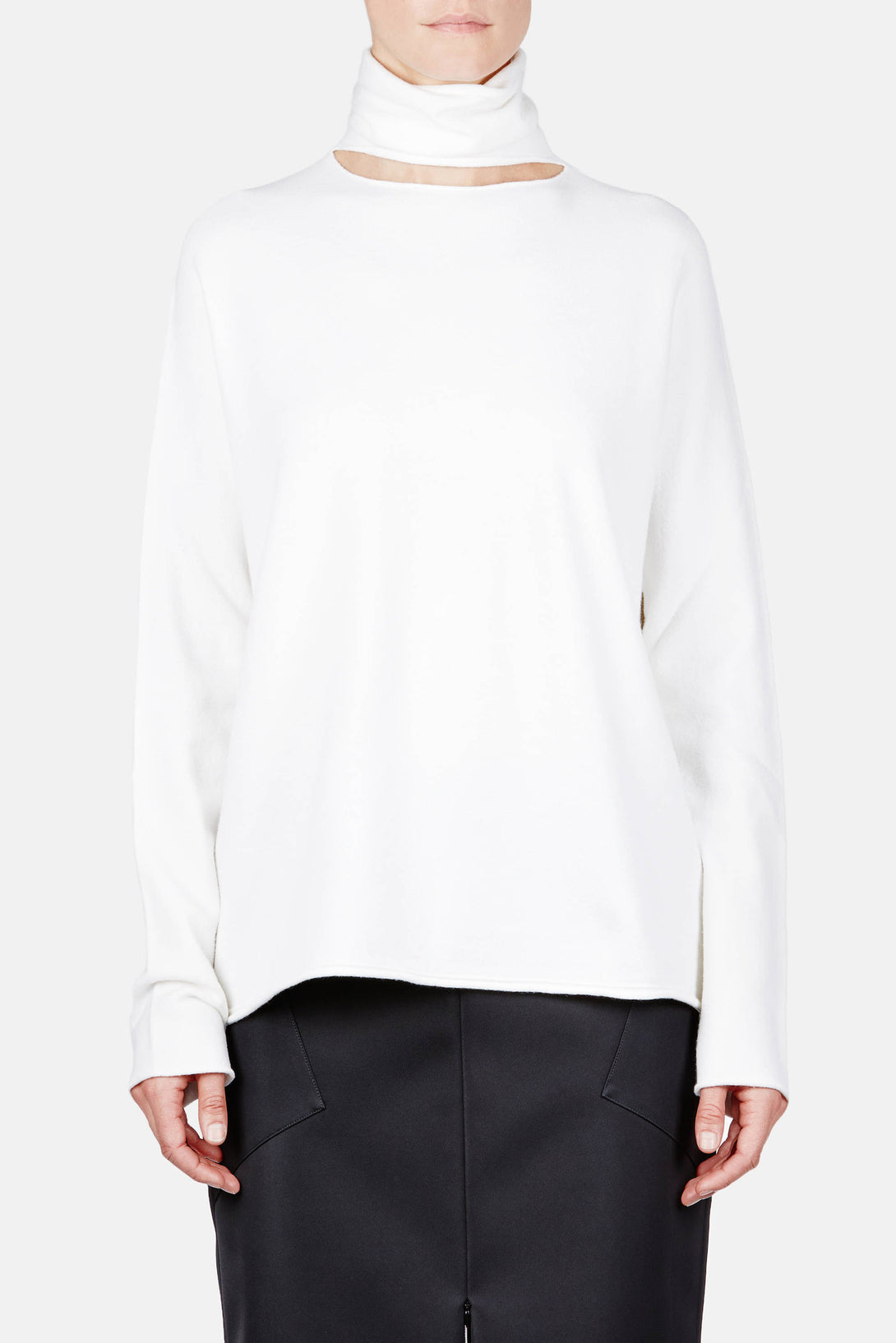 Sweater 02 Deconstructed Turtleneck - Ivory