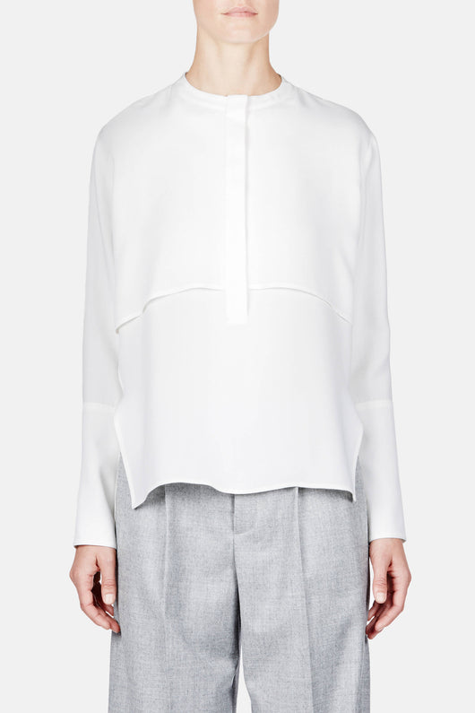 Shirt 08 Split Layer Blouse - Ivory