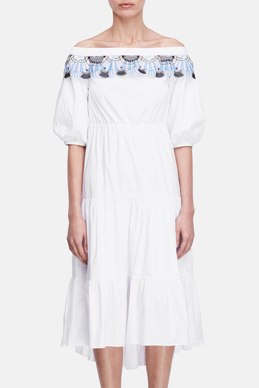 Lace Pallas Dress - White
