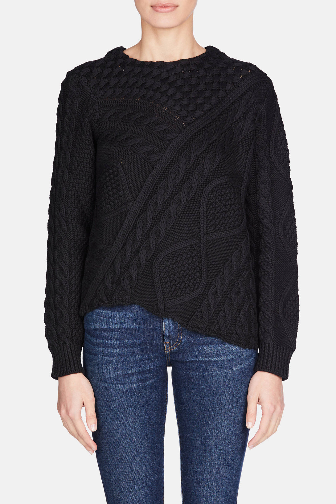 Patchwork Sweater - Black