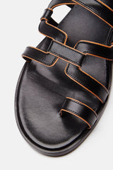 Kaliste Sandal - Black/Tan