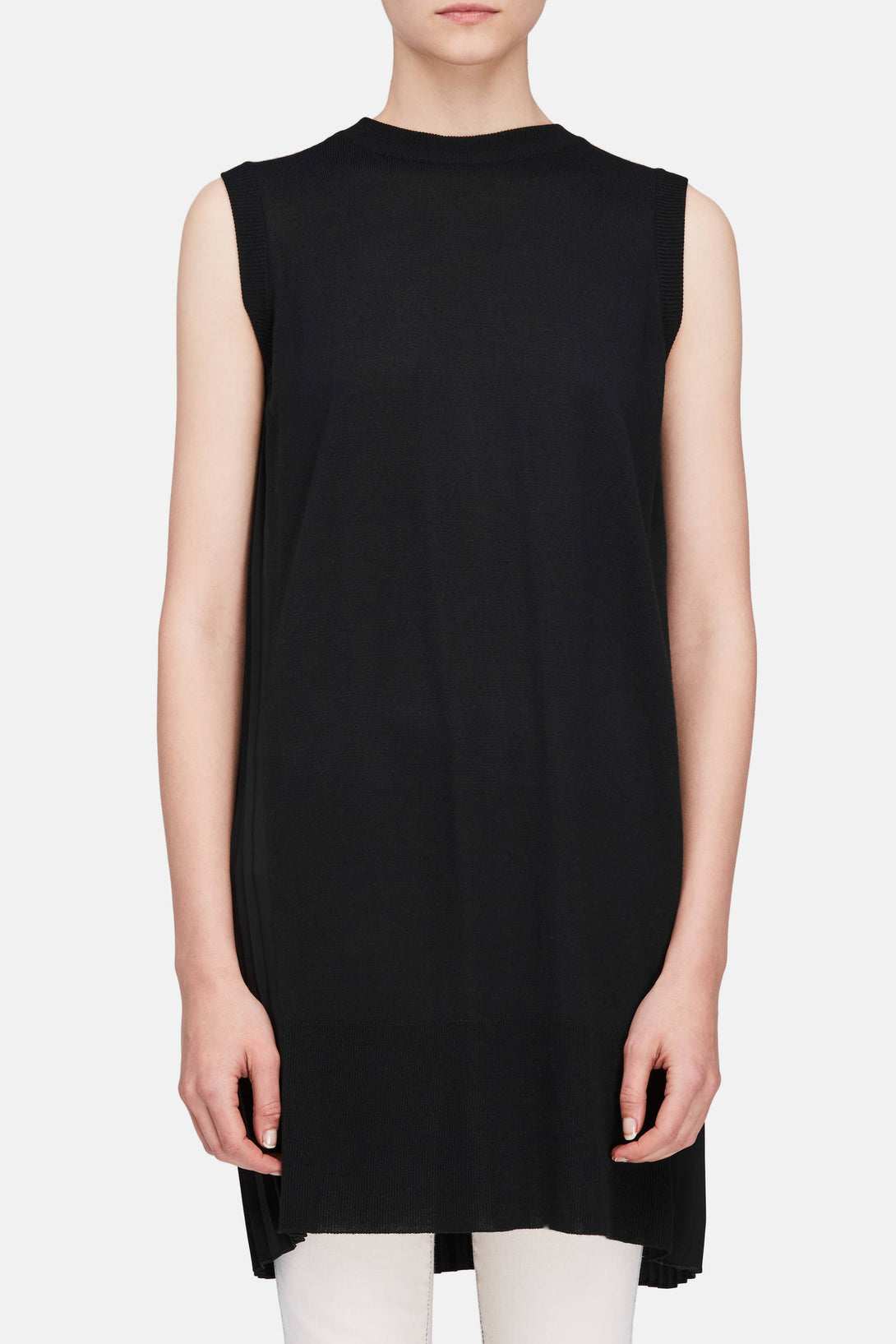 Pleated Back Dress - Black