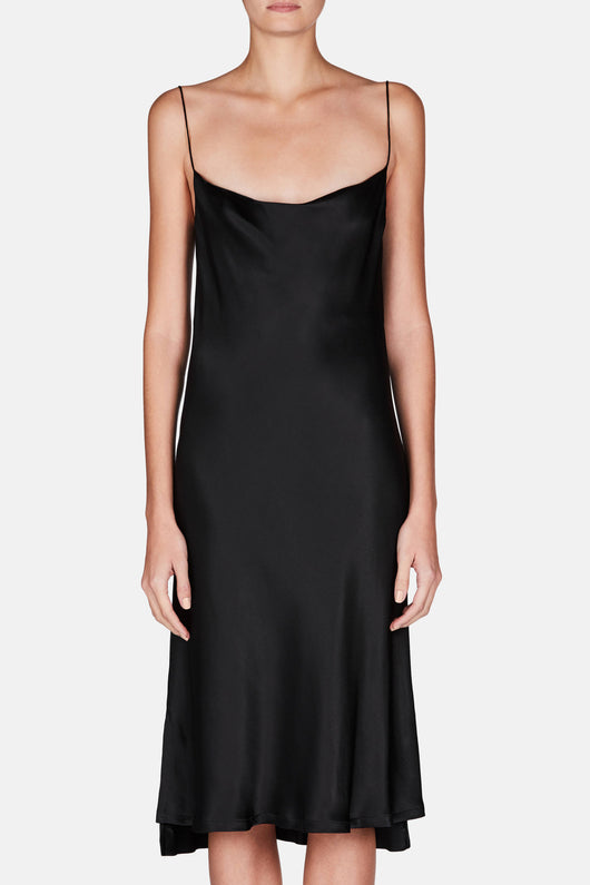 Dress 38 Draped Slip Dress - Midnight