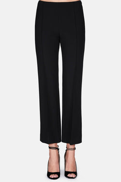 Trouser 31 Cropped Pintuck Pant - Black