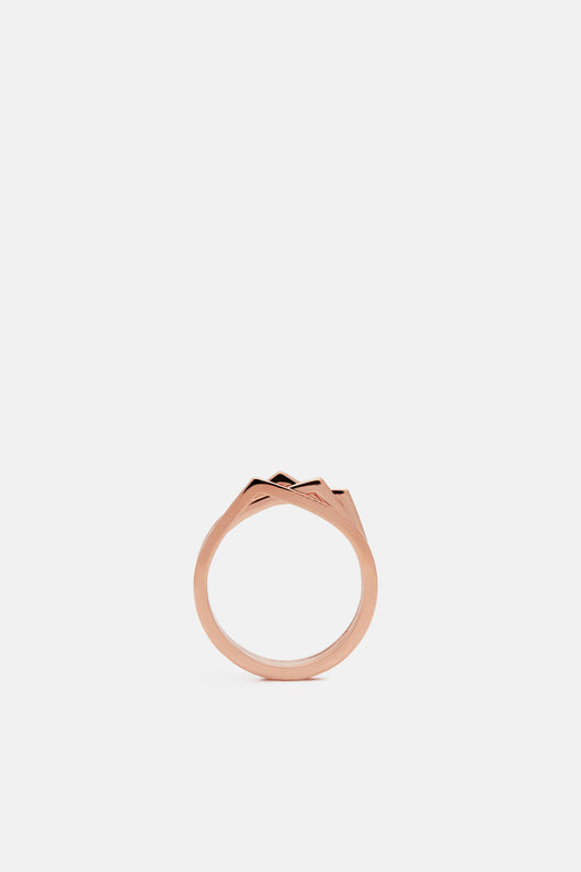 4 Rows Antifer Pink Gold Ring