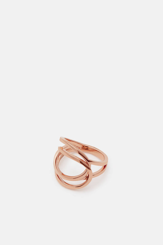 Pink Gold Ring C Line