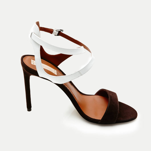 Ankle Harness Sandal - Bark White