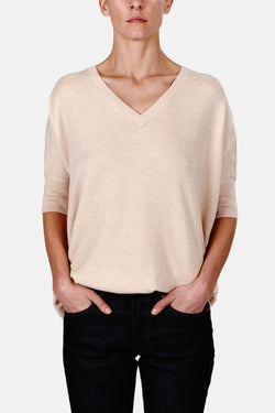 Cashmere SS Oversized Sweater - Nude