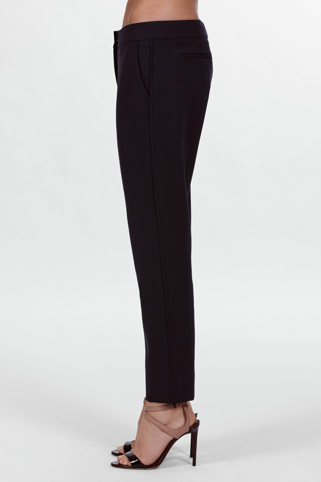 Cropped Skinny Pant - Navy