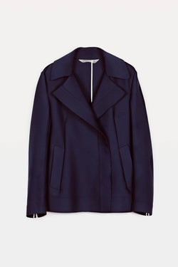 Double Breasted Peacoat - Navy