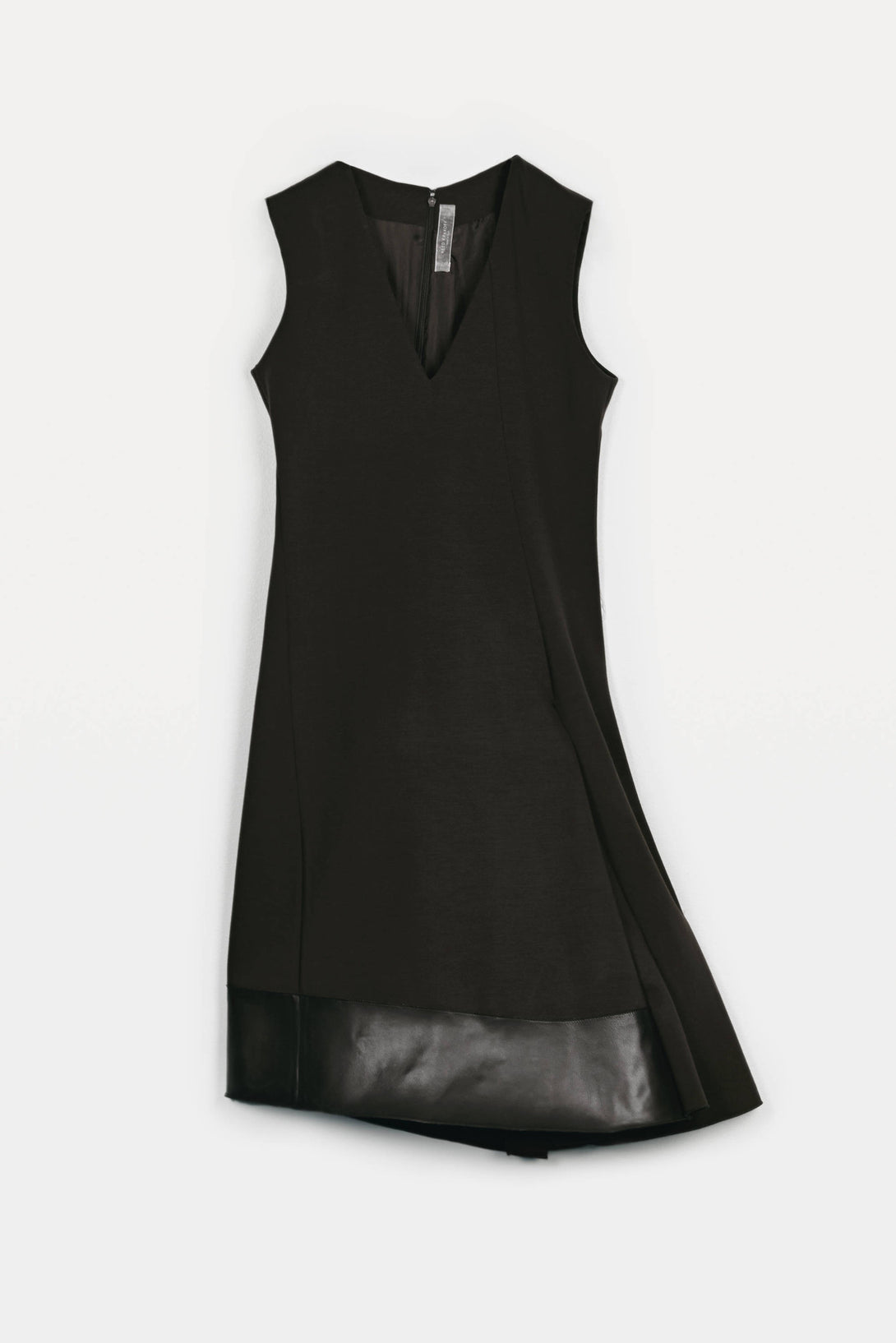 V-Neck Sleeveless Dress - Black
