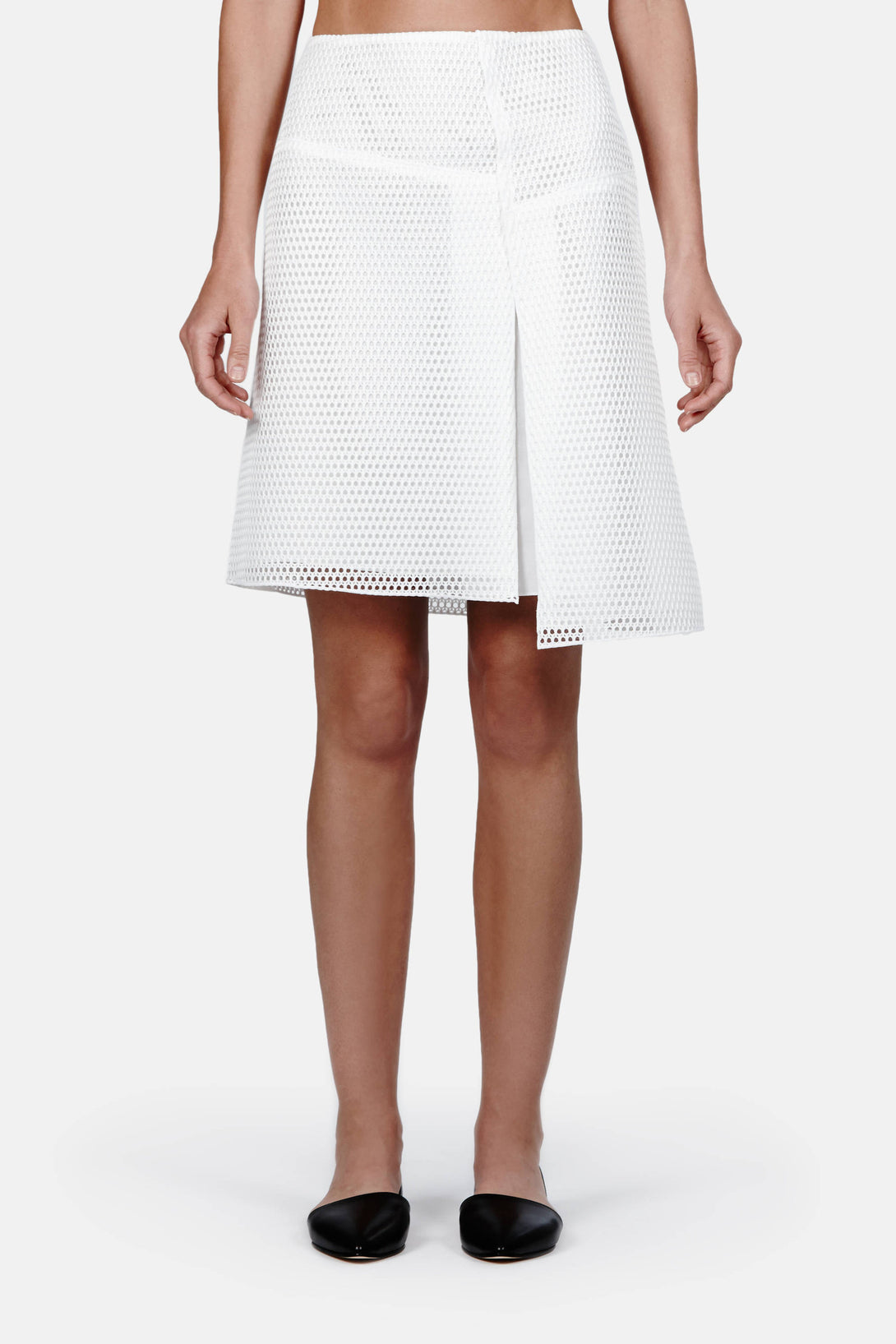 Asymmetrical Skirt - White