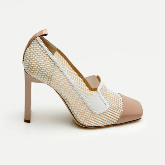 Mesh Atlas Pump - Nude/White