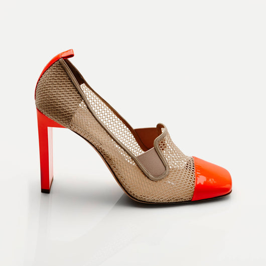 Mesh Atlas Pump - Orange/Nude