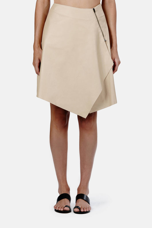 Skirt with Side Flounce