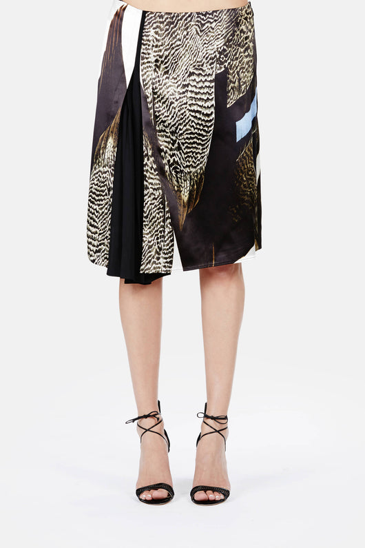 Reed Audobon Liquid Satin Wrap Skirt