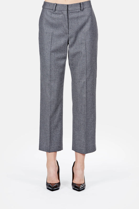 Cropped Trouser - Charcoal