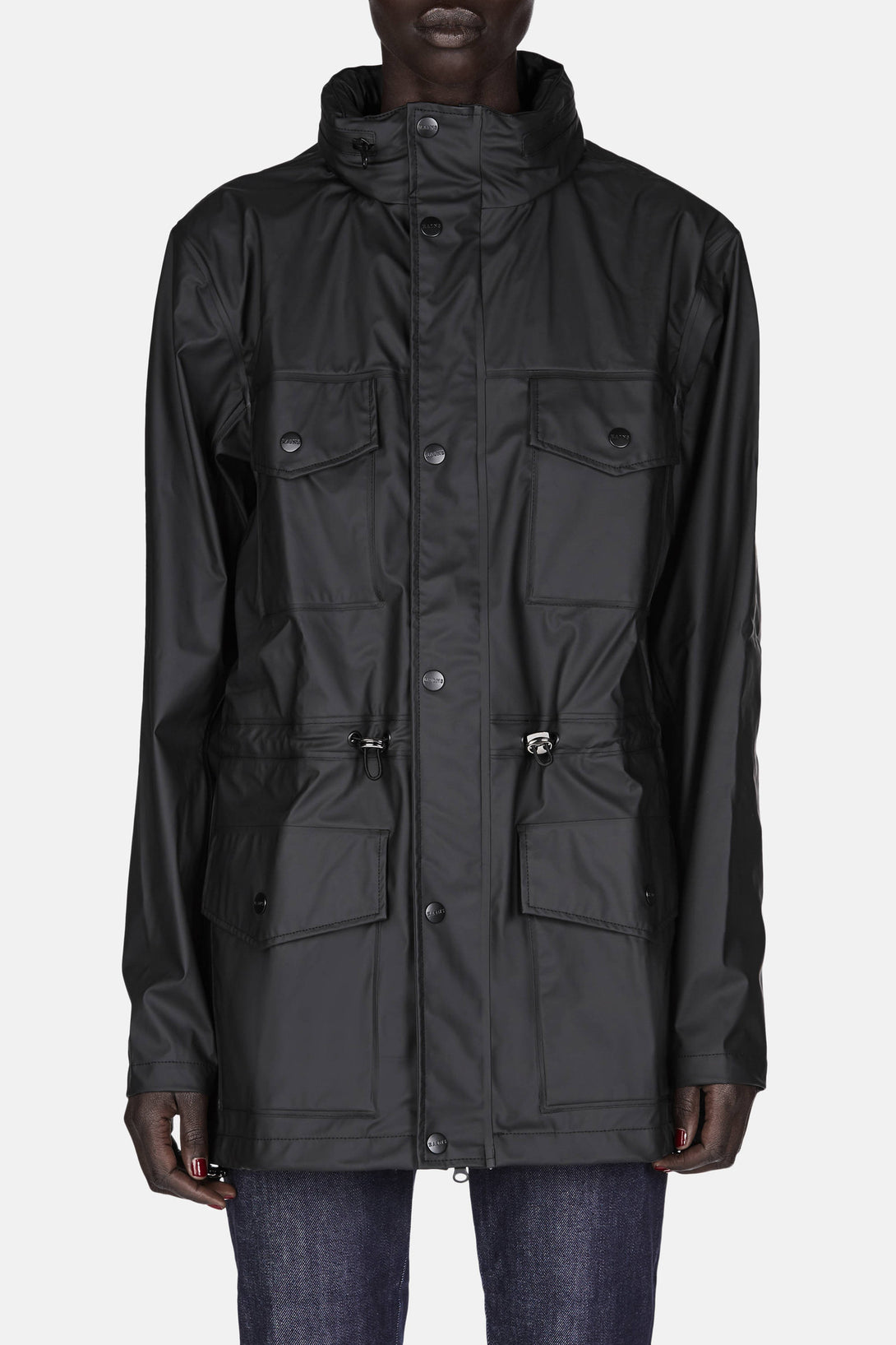Four Pocket Raincoat - Black