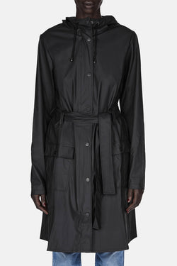 Curve Jacket Raincoat - Black