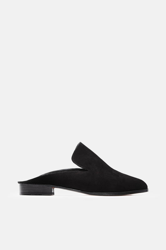 Alice Mule - Black Suede