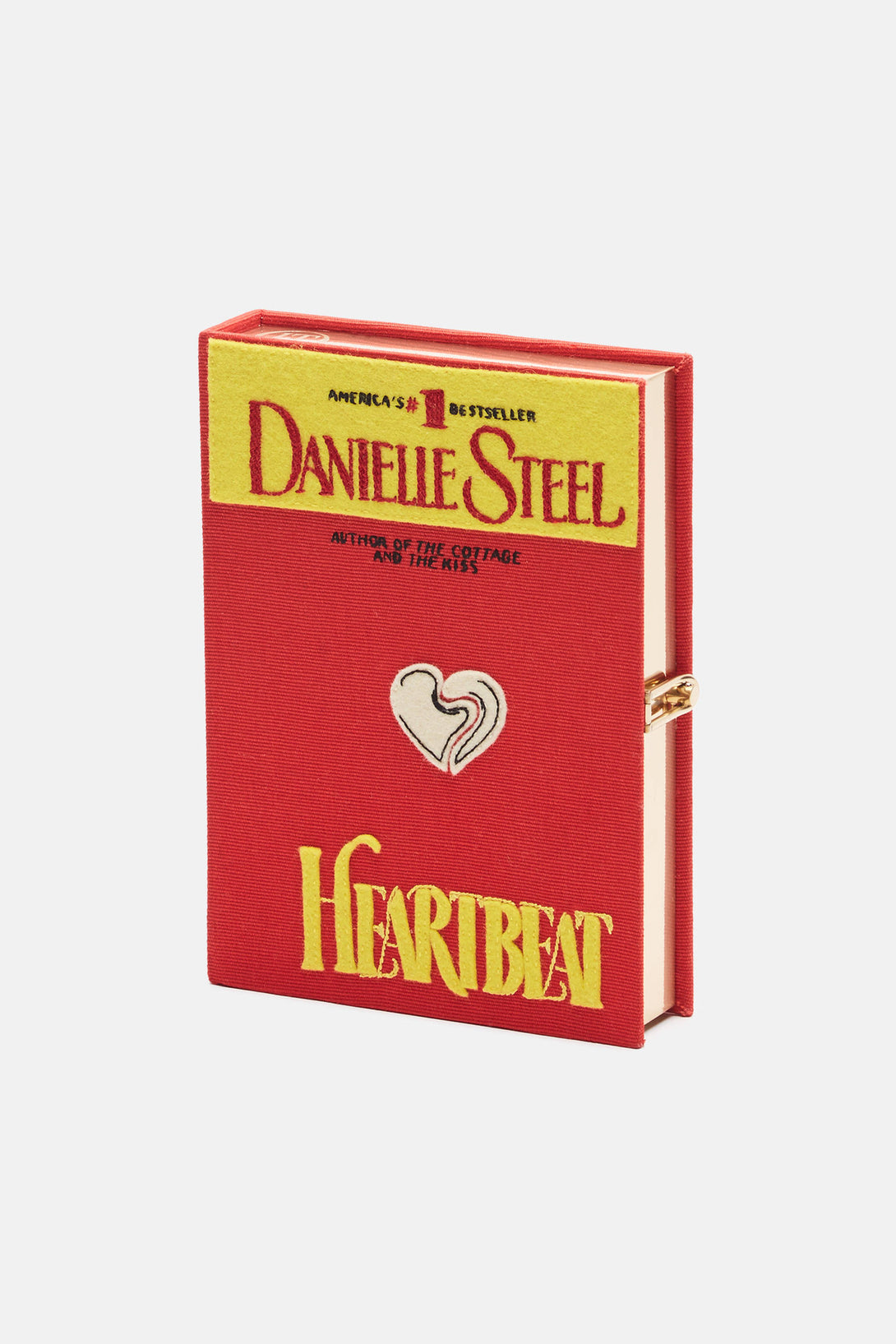 Heartbeat Book Clutch