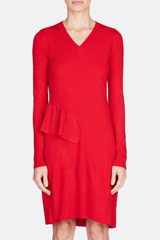 Ruffle Dress - Red Velvet