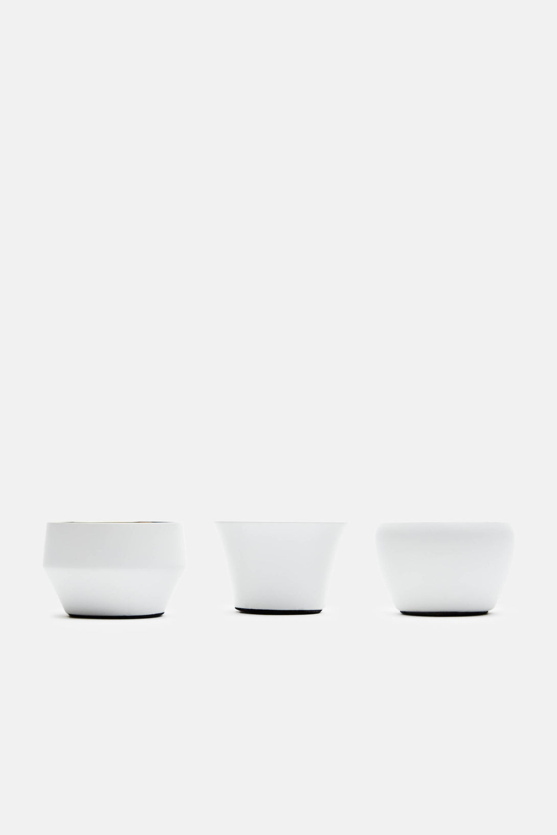Set of 3 Kin Tealight Holders - White