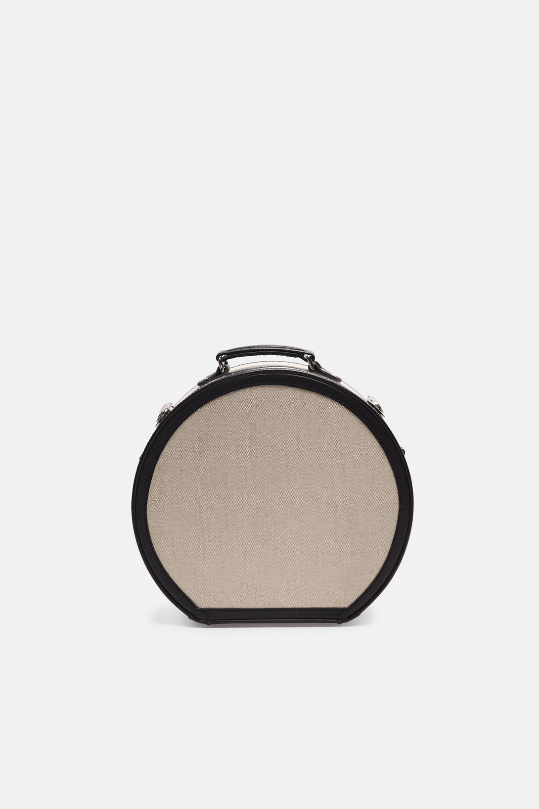 The Editor Series Linen and Leather Hatbox - Small