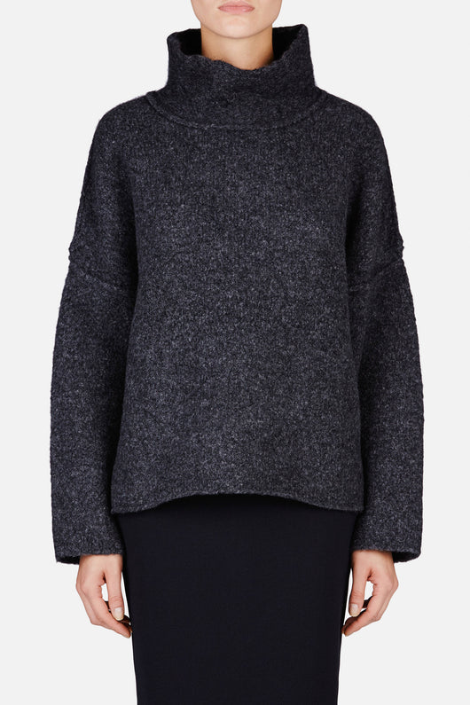 Highland Loose Turtleneck - Storm